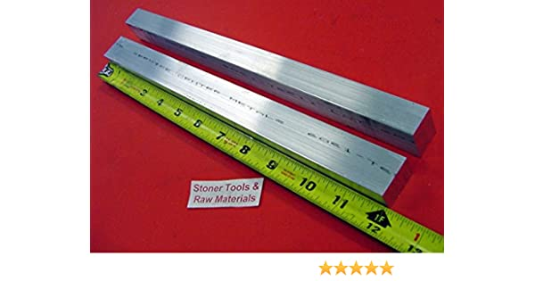 """12 Pieces 3//4/"""" X 8/"""" X 9/"""" 6061 ALUMINUM EXTRUDED BAR T6511 Solid New Mill Stock"""