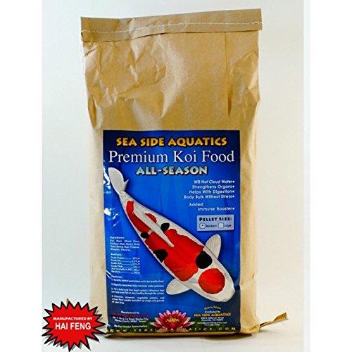 Seaside Aquatics Premium All Season Koi Fish Food (manufactured by Hai Feng) - 44 lbs. (Large Pellet) by Hai Feng