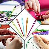 30 Pcs Plastic Large-Eye Needles Sewing
