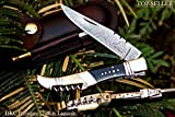 DKC-54 SQUIRE MASTER Damascus Folding Laguiole Style Pocket Knife 4.5