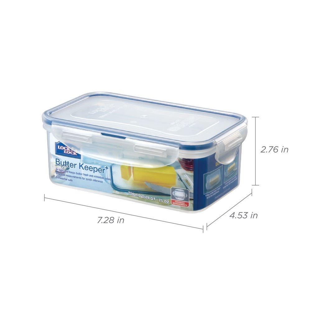 Lock /& Lock Butter Keeper Clear 18 x 11 x 6.5 cm