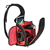 Camera Case Bag - WuyiMC New Stylish Camera Backpack Bag Waterproof DSLR Case for Canon for Sony for Nikon Red