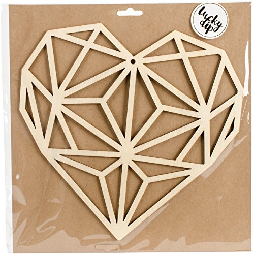 Kaiser Craft Lucky Dip Decor Flourish Geo Heart (2 Pack)