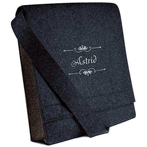 Halfar® Tasche mit Namen Astrid bestickt - personalisierte Filz-Umhängetasche ymvTUA