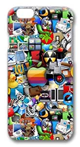 Icons Custom iphone 6 plus 5.5 inch Case Cover Polycarbonate 3D