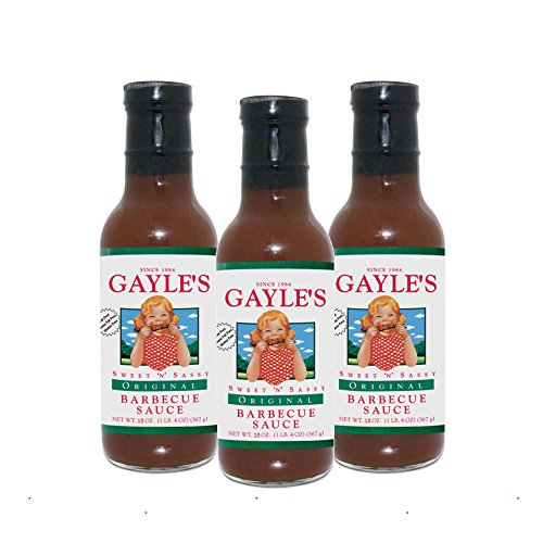 Gayles Sweet 'N' Sassy Barbecue Sauce - 3 pack of 18 oz - Original (Homemade Sauce Bbq)
