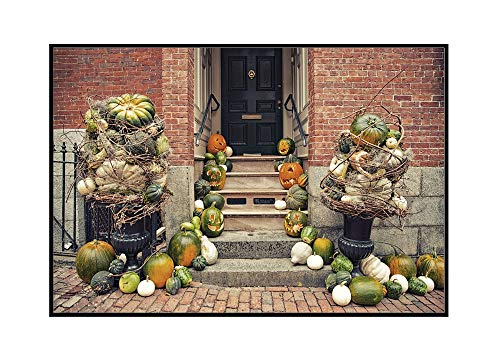 Salem, Massachusetts - Fall Decorations - Photography A-94744 (24x16 Framed Gallery Wrapped Stretched Canvas)