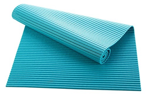 RanBow floor PVC waterproof multifunction thick mat,Use in the living room, bedroom, kitchen, bathroom, closet, shoe rack.Non-slip mats, game pad, Baby crawling mat , baby floor mat(43 180,Blue