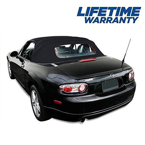 - Compatible With Mazda Miata Convertible Top 2006-2015 & Heated Glass Window Black Cabrio