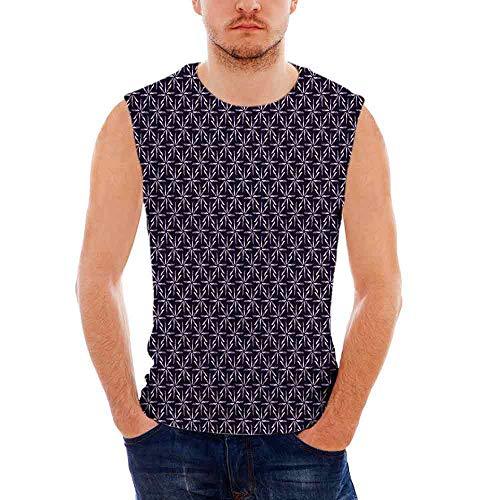 iPrint - Camisa geométrica para Hombre, diseño de músculos en T, Color pálido, Multi-014, Medium