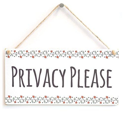 PRIVACY PLEASE - Functional Do Not Disturb Hanging B&B Door Sign Wooden Hanging Sign 4 X 8