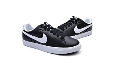 926a0d06d3f Nike Women s Court Tour Skinny Leather Shoes (5.5) Black White