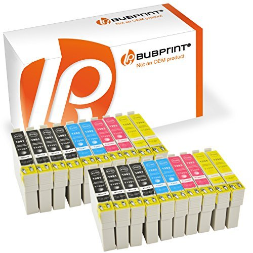 20 Bubprint® Druckerpatronen kompatibel für Epson T1291 - T1294 EPSON STYLUS OFFICE BX 305 F , BX 320 FW , BX 525 WD , BX 625 FWD EPSON STYLUS SX 420 W , SX 525 WD , SX 620 FW.