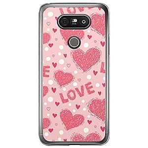 Loud Universe LG G5 Love Valentine Printing Files Valentine 173 Printed Transparent Edge Case - Pink