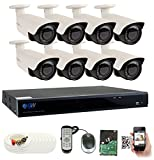 GW Security 8CH Plug & Play 5MP DVR 1920p CCTV Security System, (8) x 5-Megapixel (2592TVL) Weatherproof 2.8~12mm Varifocal Bullet Cameras Surveillance System 2TB HDD, QR-Code Easy Setup Review