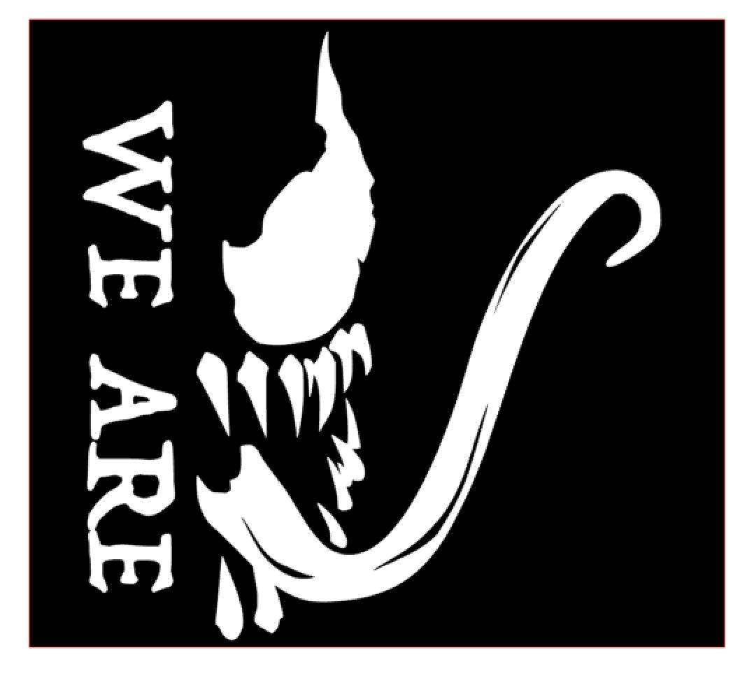 超特価激安 We are Venom 映画ビニールステッカーデカール ホワイト カーバンパー ウィンドウ MacBook Pro ノートパソコン B07JW7HJVK are iPad iPhone用 6