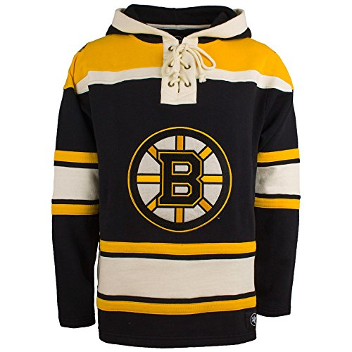 '47 Boston Bruins NHL Heavyweight Jersey Lacer Hoodie - Large