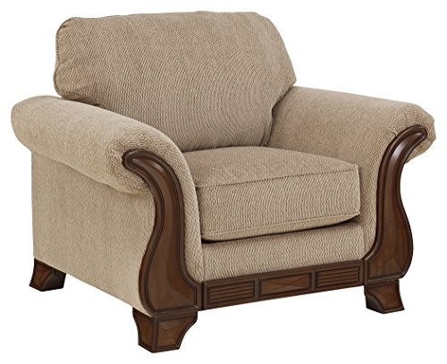Signature Design by Ashley – Lanett Traditional Oversized Arm Chair, Barley