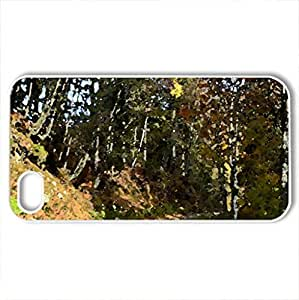 Autumn 4 - Case Cover for iPhone 4 and 4s (Forests Series, Watercolor style, White)