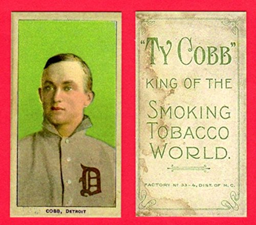 Ty Cobb 1909 T206 Tobacco Baseball Reprint Card (Green Portrait) #2 (with Cobb Back) (Tigers)