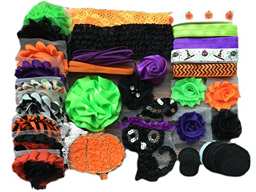 Bowtique Emilee Mini Headband Kit Makes over 15 Headbands, DIY Baby Headband Kit -