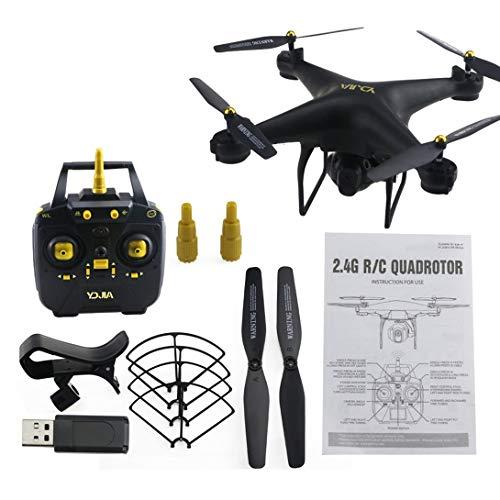Swiftgood D68W-3 2.4G RCセルリースマートドローンクアドコプター航空機UAV、720P Wifi FPVライブビデオカメラの高度保持360°フリップ