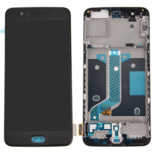 Wblue For OnePlus 5 LCD Screen + Touch Screen Digitizer Assembly with Frame (Black) by Wblue