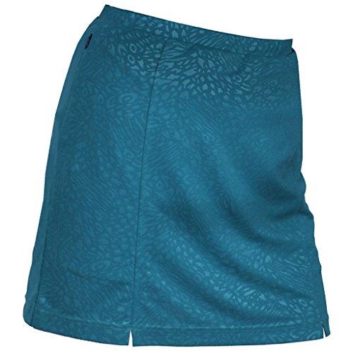 Monterey Club Ladies Dry Swing Artsy Animal Emboss Pull-on Knit Skort #2887 (Bluebird, 2X-Large)
