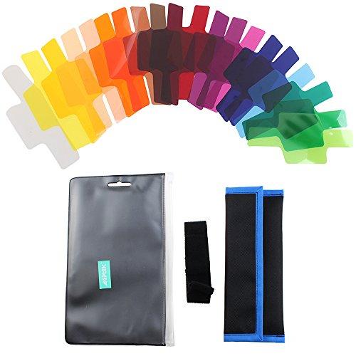 AGPtek® 20 Color Photographic Gels Lighting Filter for - Flash Gel Nikon