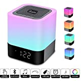 WamGra Night lights Bluetooth Speaker,Touch Sensor Bedside Lamp Dimmable Warm Light,Color Changing Bedside Lamp,MP3 Music Player,Wireless Speaker with Lights (Updated Colorful Version)