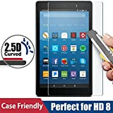 All-New HD 8 Screen Protector, BENOKER Tempered Glass Screen Protector for All-New HD 8 Tablet (7th/6th 2017/2016 Release) - 9H, HD, Bubble Free, Anti-Scratch