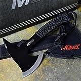 M-TECH 9'' Black Tactical Survival Throwing Cord Handle Axe Hatchet Hawk Tomahawk
