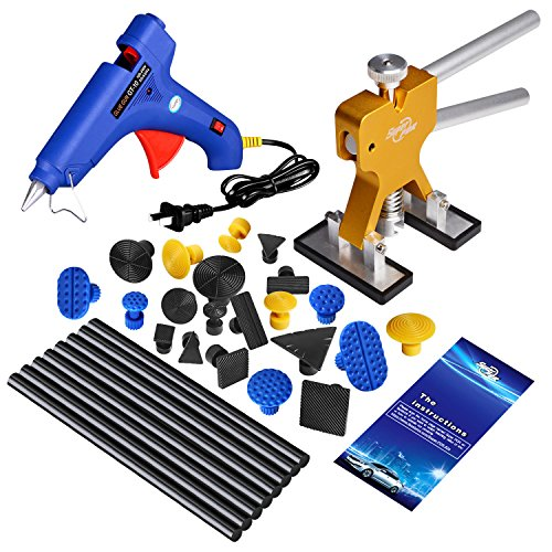 Super PDR 31Pcs Dent Lifter Glue Puller Pdr Tools Kits Car Auto Body Paintless Dent Repair Removal Tools For Hail Damage And Door Ding