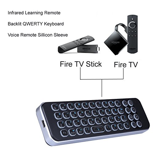Updated 2018 Version with Infrared Learning Universal Remote Control, iPazzPort Mini Bluetooth Keyboard with Backlit for Smart TV, Android Tv Box by iPazzPort (Image #1)'
