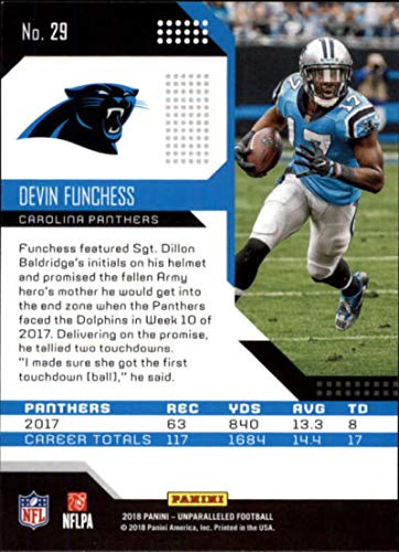 Amazon.com  2018 Panini Unparalleled  29 Devin Funchess Football Card  Carolina Panthers  Collectibles   Fine Art c0092d14c