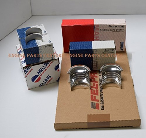 SBC Chevy 350 Complete Re-Ring rering rebuild Overhaul Kit w/Bearings Gaskets Oil Pump & Seals (All Std Sizes) ()