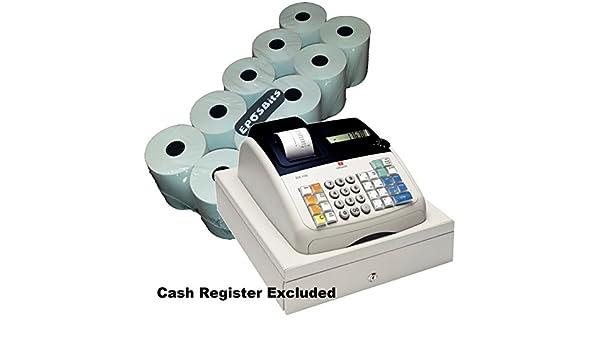 EPOSBITS® - 10 rollos para caja registradora Olivetti ECR7100 ECR 7100: Amazon.es: Oficina y papelería