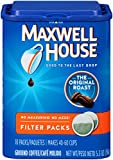 Maxwell House Coffee Ground Filter Packs, Original Roast, 10 Filter Packs (Pack of 1)