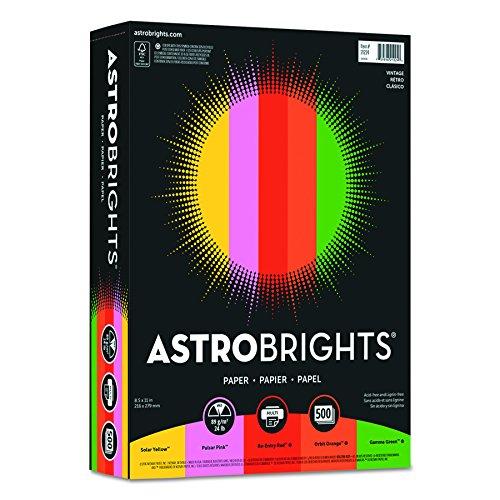 "Astrobrights Colored Paper, 8.5"" x 11"", 24lb/89"