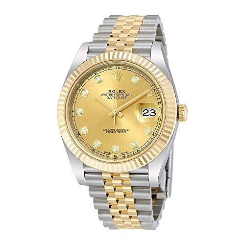Rolex Datejust 41 Champagne Diamond Steel and 18K Yellow Gold Jubilee Mens Watch 126333CDJ - 18k Yellow Gold Diamond Watch