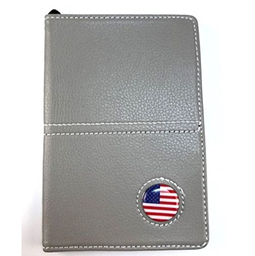 TNS STORE Gray Leather Book Golf Scorecard and Yardage Holder with Ball Marker and Pencil
