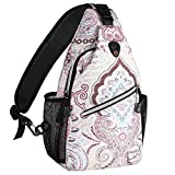 MOSISO Sling Backpack, Multipurpose Crossbody Shoulder Bag Travel Hiking Daypack, National Style