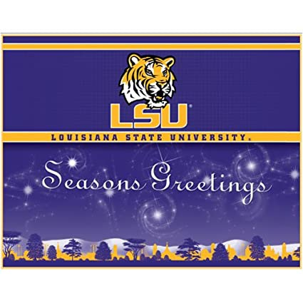 Amazon louisiana state tigers holiday greeting cards sports louisiana state tigers holiday greeting cards m4hsunfo