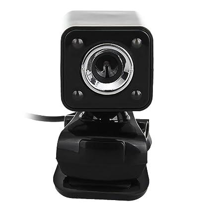 SODIAL 480P 30W 4 LED HD Camara web Camara + USB 2.0 Microfono para computadora PC