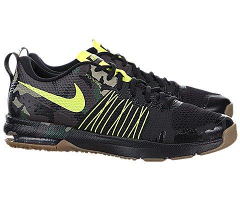 Nike Men's Air Max Effort Tr Amp Black/Volt/Gum Med Brown Training Shoe 12 Men US