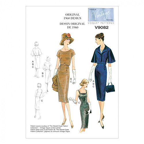 - Vogue Ladies Sewing Pattern 9082 Vintage Style Jacket, Top & Dress