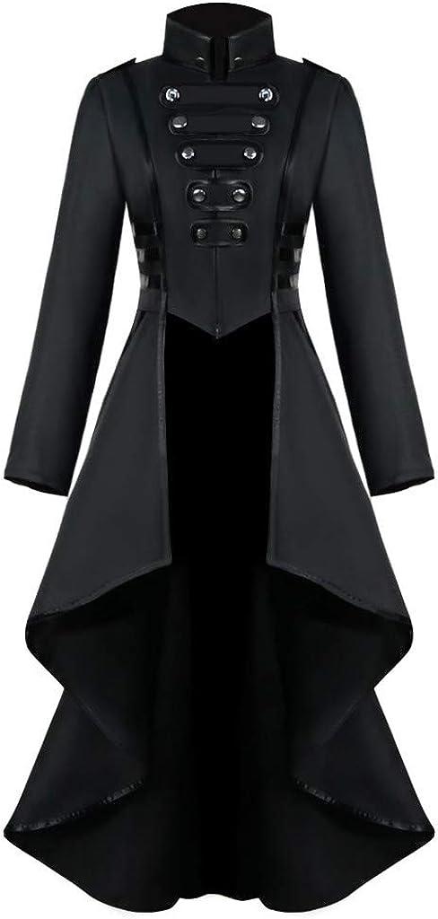 chaqueta de cola abrigo Abrigo Invierno Mujer,Chaqueta Retro de Mujer Steampunk de Abrigo Largo para Mujer Abrigo Largo G/ótico Retro Originales Elegantes Tops disfraz de Halloween y Navidad MXJEEIO