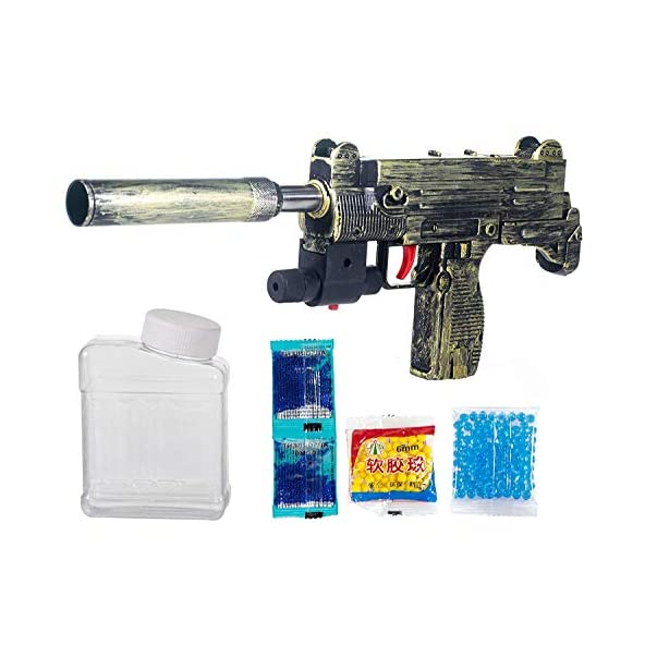 Zenith Toys PUBG Theme Uzi Submachine 2in1 Gun Toys Set with Assault Rifle M416 Model, 4X Design Scope,1000+ Crystal Water and Soft Foam Bullets Role Play Game for Kids pubg Toys
