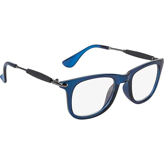 d50702711f Trendmi Clear Lens Blue Frame Mens and Womens Wayfarer Sunglasses (Transparent  Lens)  Amazon.in  Clothing   Accessories