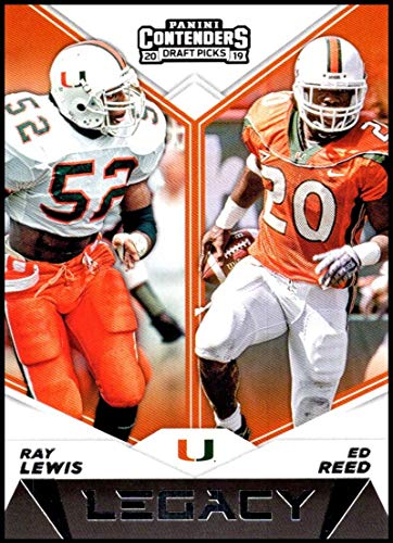 Ray Lewis Card - 2019 Panini Contenders Draft Tickets Legacy #16 Ray Lewis/Ed Reed Miami Hurricanes NCAA Football Trading Card